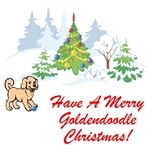 Goldendoodle Christmas T-Shirt