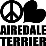 Peace Love Airedale Terrier