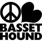 Peace Love Basset Hound
