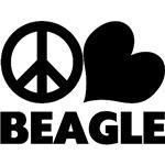 Peace Love Beagle