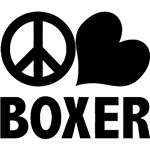 Peace Love Boxer