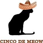 Cinco De Meow T-Shirts