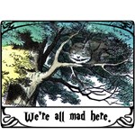We're All Mad Here Cheshire Cat T-Shirts