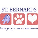 Saint Bernard Paw Prints T-Shirt