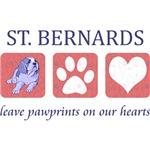 Saint Bernard Paw Prints T-Shirt
