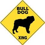 Bulldog Crossing Sign