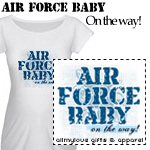 Air Force Baby On The Way! T-Shirts and Gifts