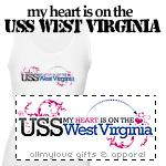 My Heart (USS West Virginia) T-Shirts and Gifts