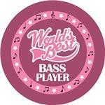 BASS PLAYER (Worlds Best) T-SHIRT GIFTS