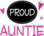 Proud Auntie Butterfly T-shirts and Gifts