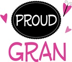 Proud Gran Butterfly T-shirts and Gifts