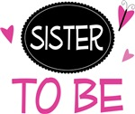 Sister to Be Butterfly Kids Shirts