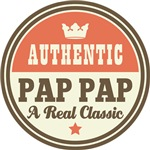 Authentic Pap Pap Vintage Gifts and T-Shirts