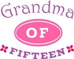 Grandma Of Fifteen T-shirt Gifts