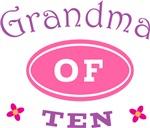 Grandma Of Ten T-shirt Gifts