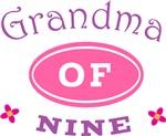 Grandma Of Nine T-shirt Gifts