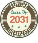 Vintage Future Graduate 2031 Baby Tees