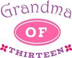 Grandma Of Thirteen T-shirt Gifts