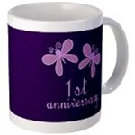 Lavender Anniversary Mugs and gifts