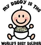 Daddy Is World's Best Soldier Kids T-shirts