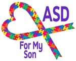 ASD For My Son Puzzle Ribbon