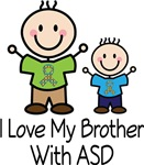 ASD I Love My Brother autism t-shirts