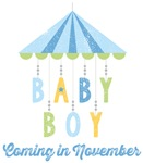 Baby Boy Coming in November Due Date Maternity