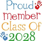 Proud Class Of 2028 Tshirts