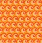 Art Deco Orange Curl Waves