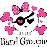 Band Groupie Rocker Girl Skull