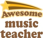 Awesome Music Teacher T-shirts