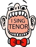 I SING TENOR Funny T-shirts and Gifts Barbershop C
