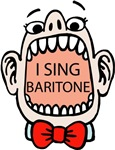 I SING BARITONE Funny Chorus Barbershop T-shirts