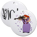 Violin and Viola Christmas Ornaments
