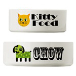CUTE DOG / CAT PET BOWLS