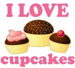 I Love Cupcakes T-shirts And Gifts