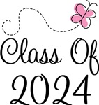 Butterfly Class Of 2024 T-shirts