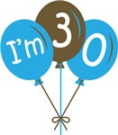 30th Birthday Balloon T-shirts and Gifts