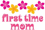 1st Time Mom Floral Tee Shirts and Gifts