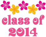 Tropical Floral Class Of 2014 Grad T-shirt