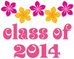 Tropical Floral Class Of 2014 Grad T-shirt