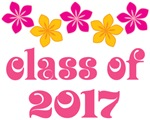 Tropical Floral Class Of 2017 Grad T-shirt