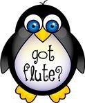 Flute Penguin Music Apparel Shirts