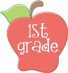 1st  Grade Stitch Apple T-shirts and Gifts
