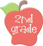 Second  Grade Stitch Apple T-shirts and Gifts