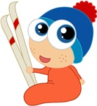 Ski Cartoon Baby Kids T-shirts