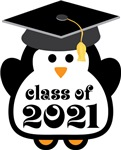 Penguin Class Of 2021 T-shirts and Graduation Gift