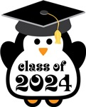 Penguin Class Of 2024 T-shirts and Graduation Gift