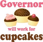 Funny Governor Cupcake Design T-shirts and