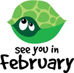 February Maternity Due Date Turtle T-shirts